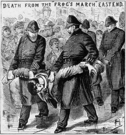 The Illustrated Police News, 6 April 1889 - DEATH FROM THE FROG'S MARCH. EAST END.