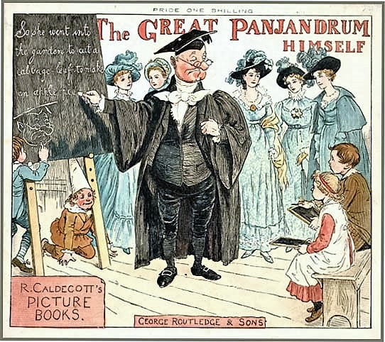cover of The Great Panjandrum Himself (1885), a picture book based on the text attributed to Samuel Foote, by the English artist and illustrator Randolph Caldecott (1846-86)