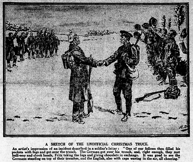 a-sketch-of-the-unofficial-christmas-truce-nottingham-evening-post-2-january-1915