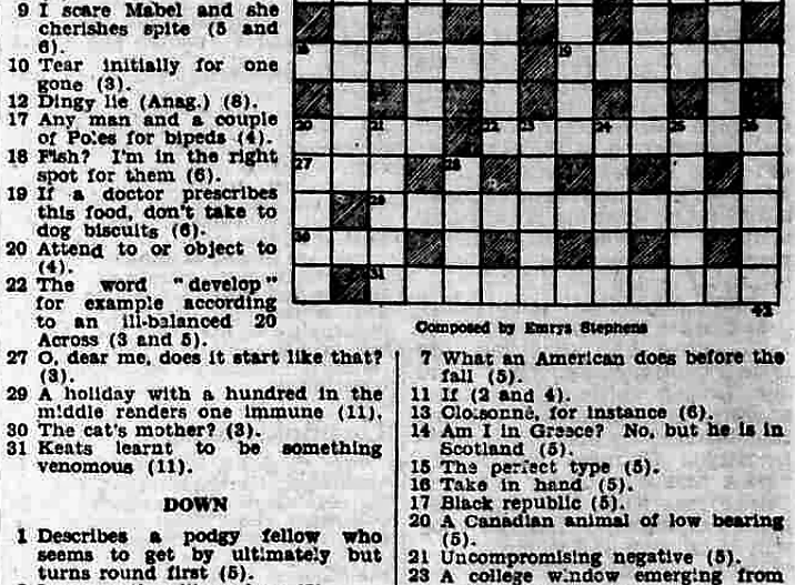 crossword-in-the-yorkshire-post-and-leeds-mercury-23-january-1950