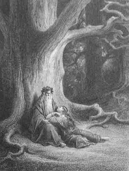 lastucieuse-viviane-etait-etendue-aux-pieds-de-merlin-gustave-dore-from-les-idylles-du-roi-paris-1868