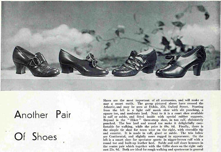 another pair of shoes - advertisement from The Bystander - 14 October 1936