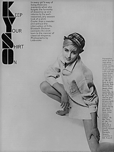 Elizabeth Dickson - keep your shirt on - Tatler - 26 June 1963