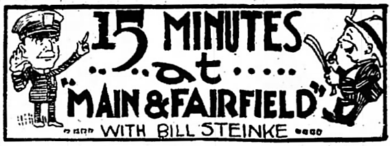 illustration for 15 Minutes at Main & Fairfield in The Bridgeport Telegram (1921)
