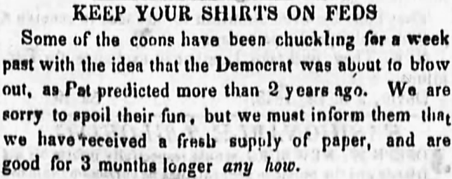 keep your shirt on - The Ohio Democrat - 18 April 1844
