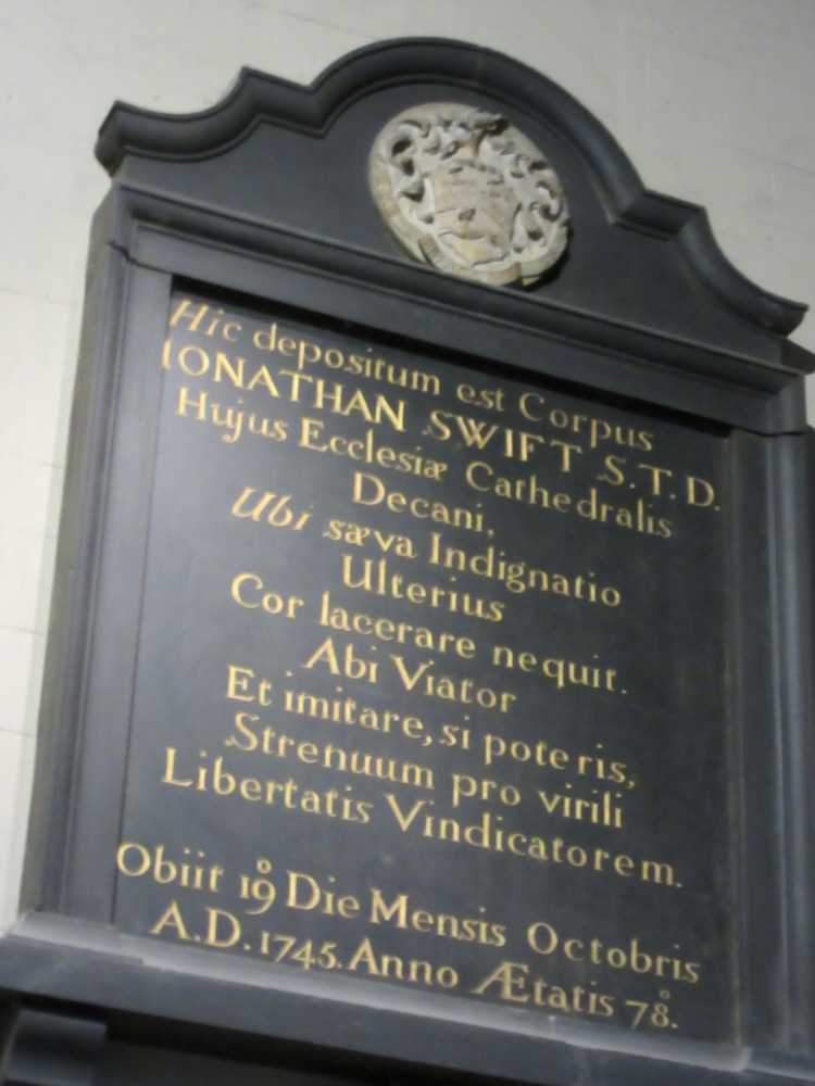 Jonathan Swift's epitaph in St Patrick's Cathedral, Dublin