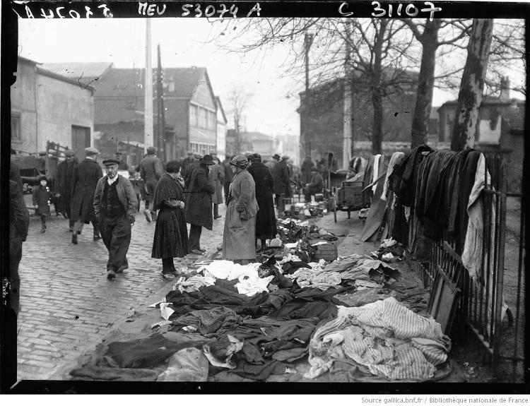 Marché aux puces à Montreuil - 1928