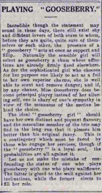 playing gooseberry - Aberdeen Press and Journal - 19 July 1926