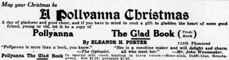 Pollyanna - Pittsburgh Daily Post - 20 December 1913