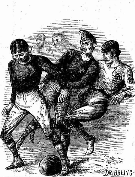 Sketches at the international football match, Glasgow - The Graphic - 14 December 1872
