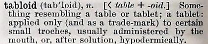 tabloid - Century Dictionary - 1897