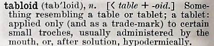 tabloid - Century Dictionary - 1897