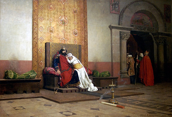 The excommunication of Robert the Pious - 1875 - by Jean-Paul Laurens