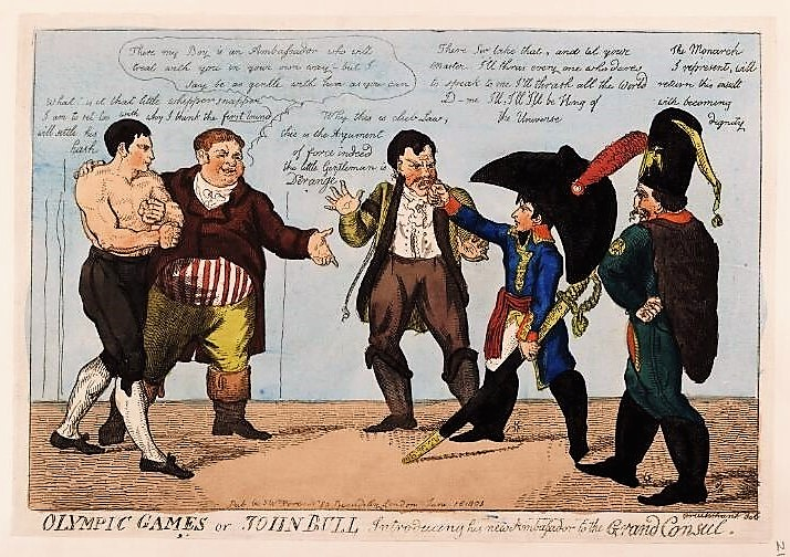 to settle someone_s hash - Olympic games or John Bull Introducing his new Ambassador to the Grand Consul (16 June 1803)