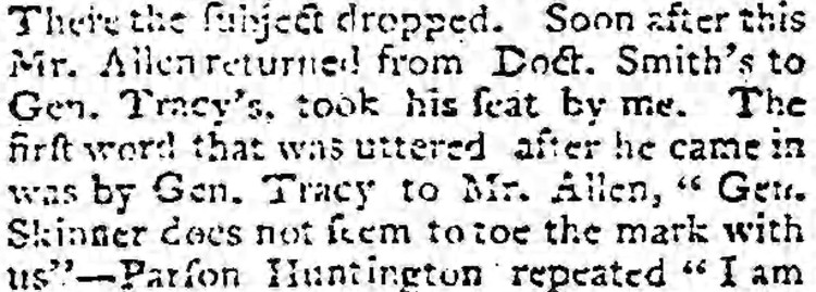 to toe the mark - Connecticut Courant – 8 February 1804
