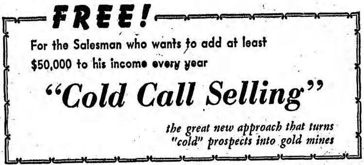 cold call - Chicago Sunday Tribune - 7 January 1962