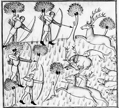 illustration from Le Livre de chasse, que fist le comte Febus de Foys, seigneur de Bearn (1375-1400)