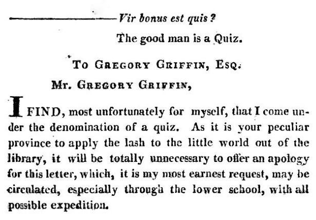 quiz - Letter from Vir Bonus - The Microcosm - 4 June 1787