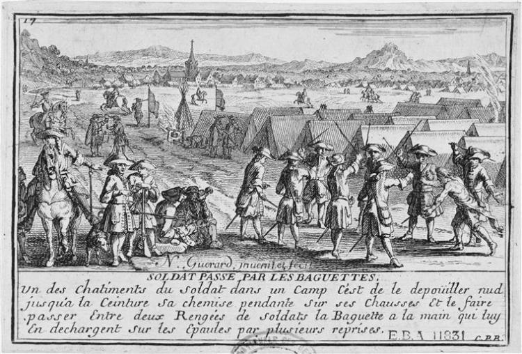 soldat passé par les baguettes - Nicolas Guérard - circa 1695