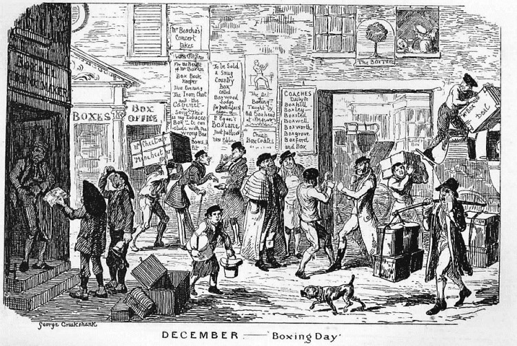 Boxing Day, by George Cruikshank - The Comic Almanack, for 1836