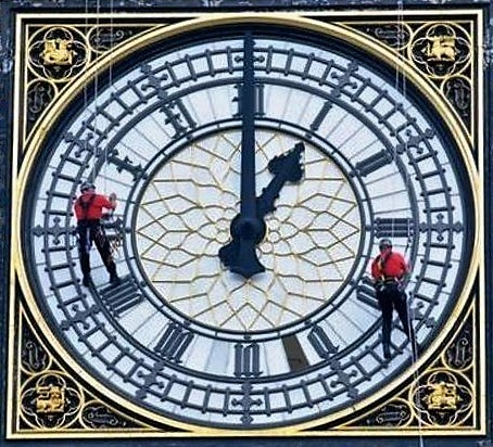 Kent workers scale Big Ben