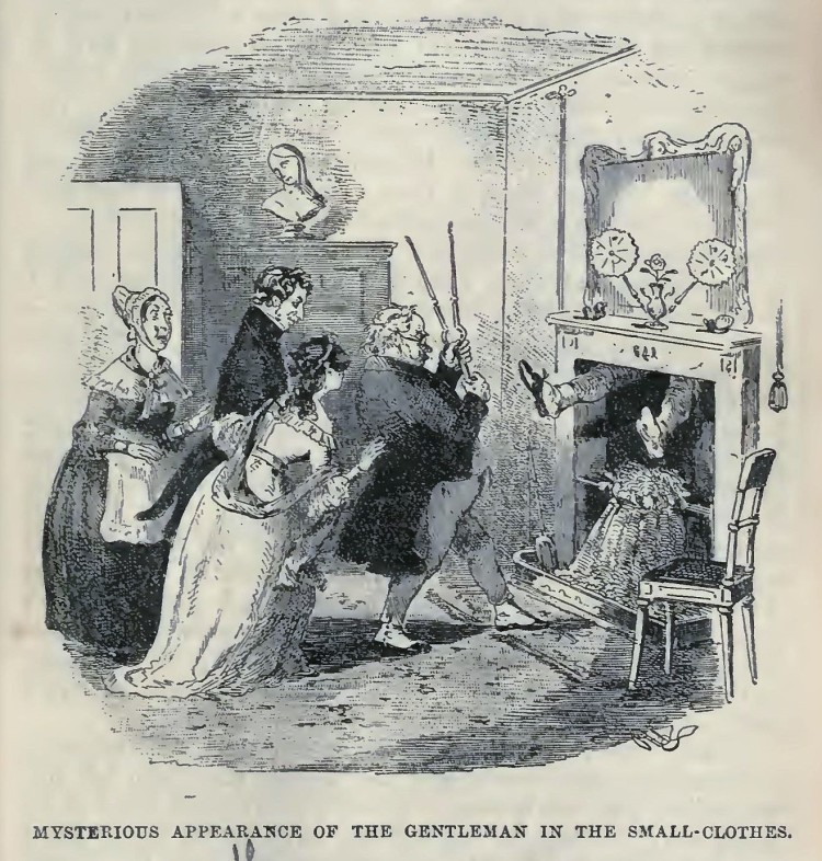 Mysterious appearance of the gentleman in the small-clothes - Nicholas Nickleby