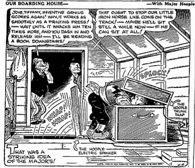 The Hoople Electric Spanker – Our Boarding House – Brownsville Herald – 18 April 1940