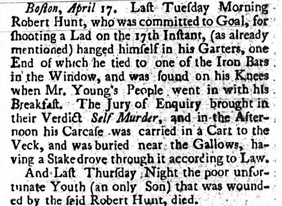 garter - Aberdeen's Journal - 4 July 1749