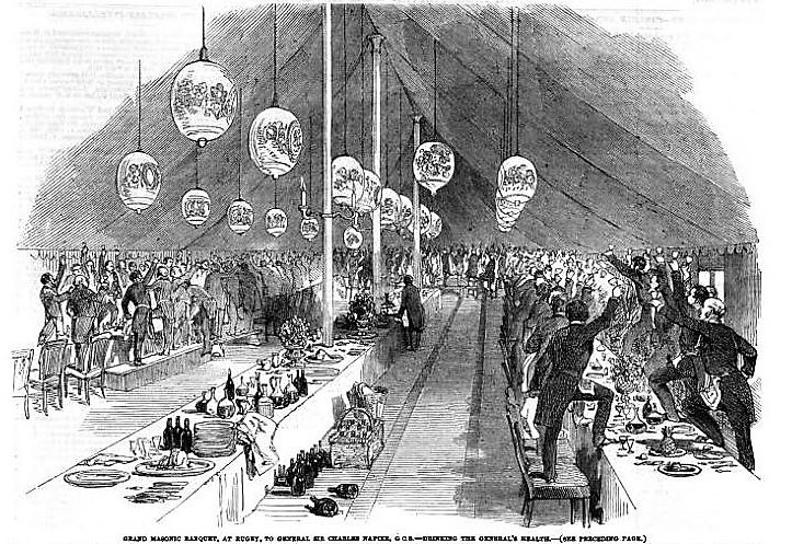 Grand Masonic Banquet - Illustrated London News - 26 July 1851