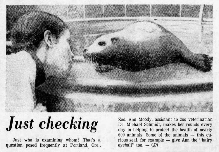 hairy eyeball - Akron Beacon Journal - 10 January 1976