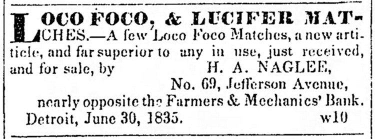 loco-foco - Democratic Free Press (Detroit, Michigan) - 8 July 1835