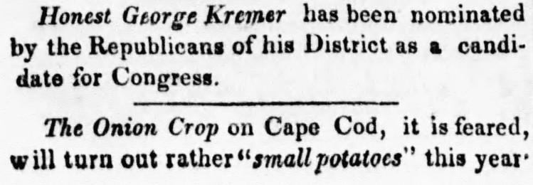 small potatoes - Boston Morning Post - 7 September 1832