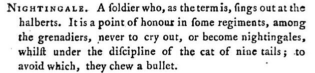 to bite the bullet - A Classical Dictionary of the Vulgar Tongue (1788) - Francis Grose