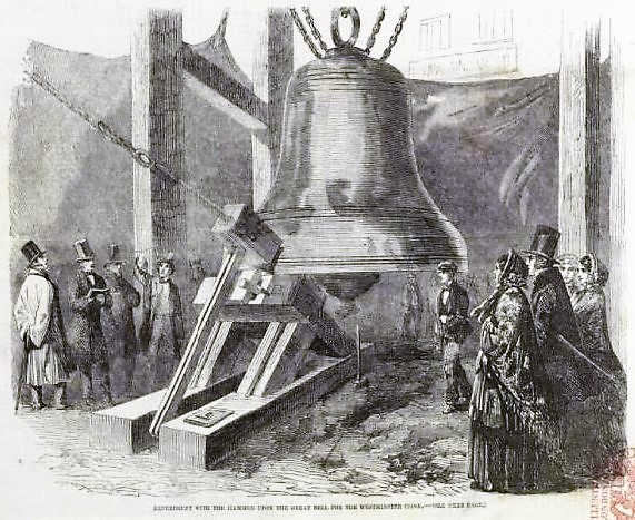 Experiment upon the Great Bell - Illustrated London News – 27th December 1856