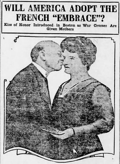 French kiss - Evansville Press (Indiana) - 31 May 1918