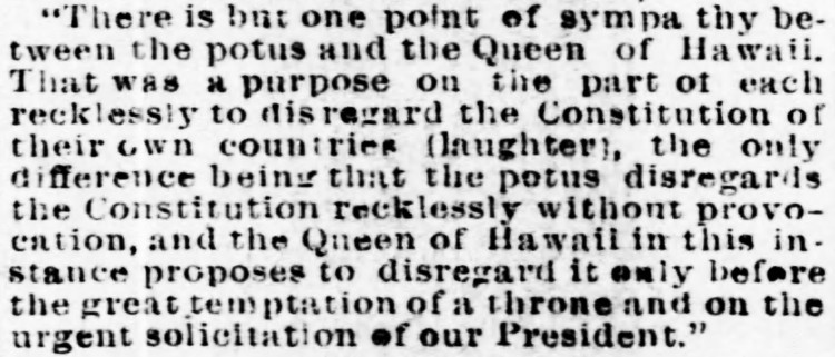 POTUS - The Philadelphia Inquirer - 17 January 1894