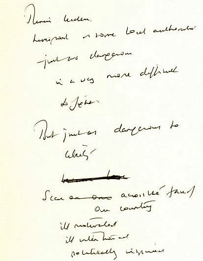 the enemy within - Margaret Thatcher_s handwritten notes for the speech delivered on 19 July 1984 (2)