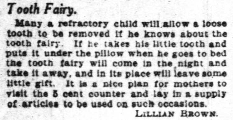tooth fairy - Chicago Sunday Tribune - 27 September 1908