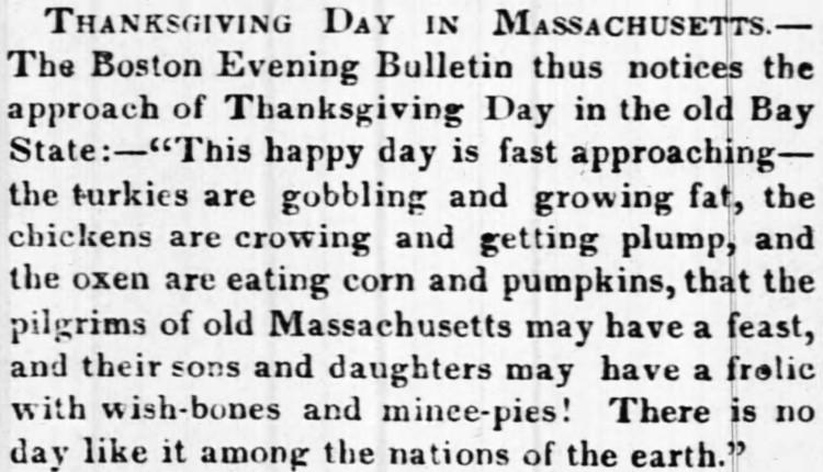 wishbone - Baltimore Sun - 10 November 1842