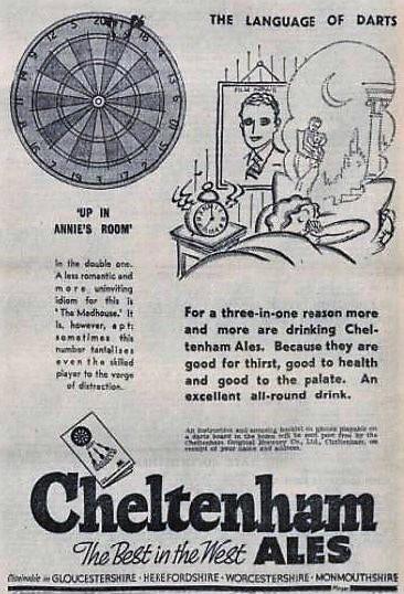 advertisement for Cheltenham Ales - Gloucestershire Echo - 1 April 1937