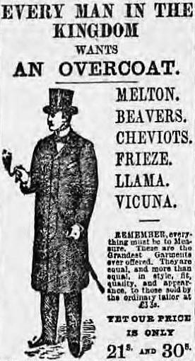 advertisement for Wilson & Co - Lloyd_s Weekly Newspaper – 6 November 1898
