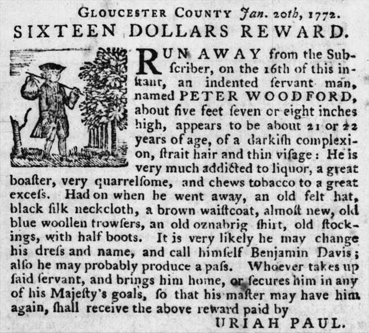 kidnap - Pennsylvania Packet - 10 Feb. 1772
