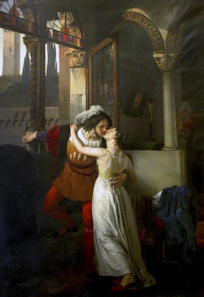 L'ultimo bacio di Romeo e Giulietta (1823), by Francesco Hayez