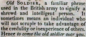 old soldier - A new and enlarged military dictionary (1810)