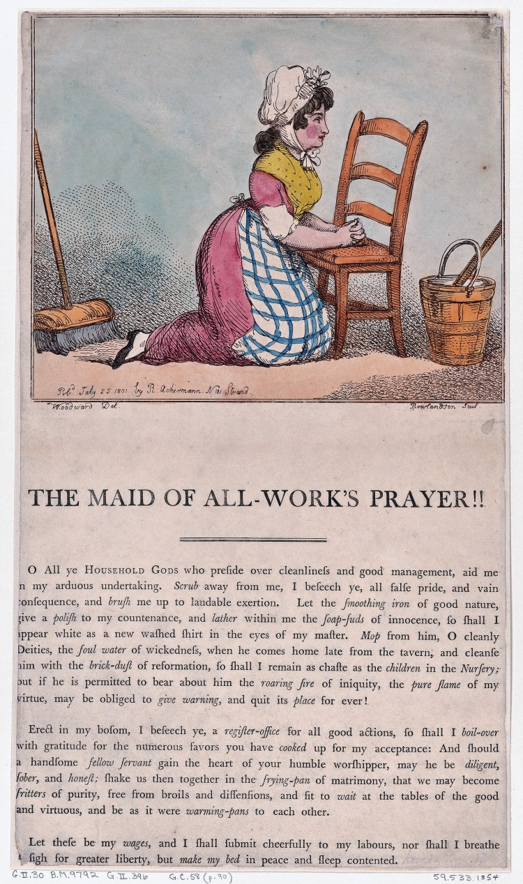 The maid of all-work_s prayer!! – Woodward & Rowlandson – London, 25 July 1801