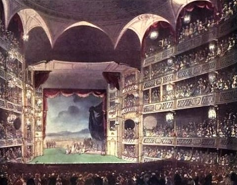 Drury Lane Theatre - The Microcosm of London or London in miniature (London, 1904)
