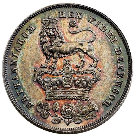 George IV shilling - 1826