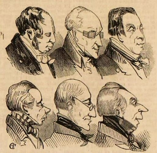 Heads from an Omnibus - The Illustrated London News – 12 August 1843