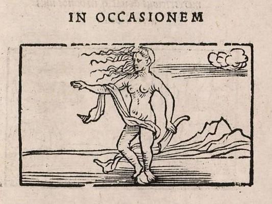 In occasionem (woodcut) - Emblematum liber (Augsburg, 1531)