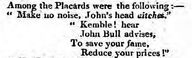 Kemble - aitches - Kentish Gazette - 26 September 1809